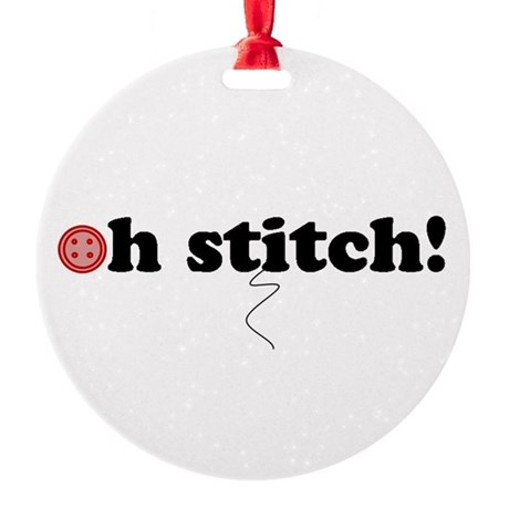 ohstitch!.png Round Ornament