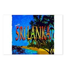 sri lanka colorful art illustration Postcards (Pac