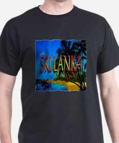 sri lanka colorful art illustration T-Shirt