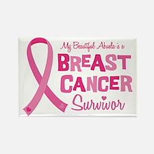 Breast Cancer Abuela Rectangle Magnet (10 pack)