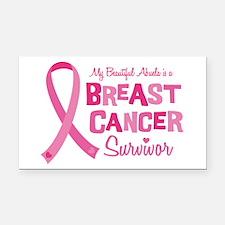 Breast Cancer Abuela Rectangle Car Magnet