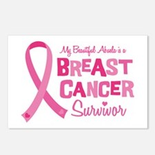 Breast Cancer Abuela Postcards (Package of 8)