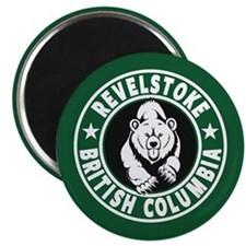 Revelstoke Green Circle Magnet