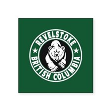 "Revelstoke Green Circle Square Sticker 3"" x 3"""