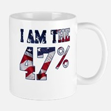 I am the 47% Romney American Flag.png Mug