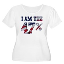 I am the 47% Romney American Flag.png T-Shirt
