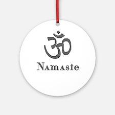 Namaste 3 Ornament (Round)