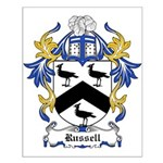 Russell Coat of Arms Small Poster