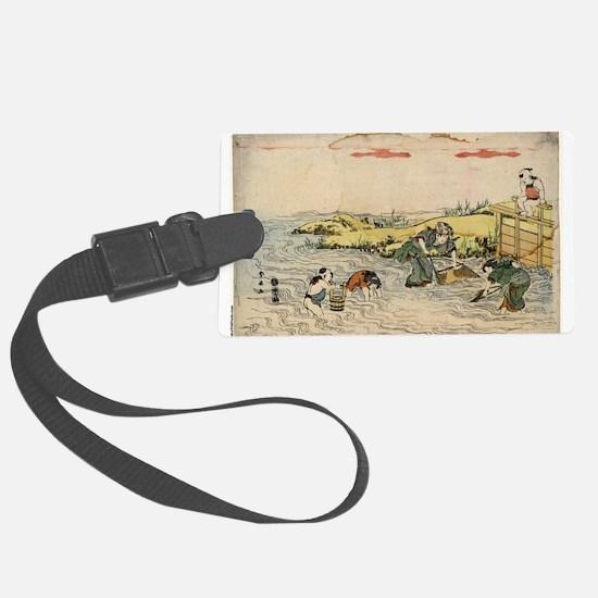 Fishing - Shunsen Katsukawa - 1804 Luggage Tag