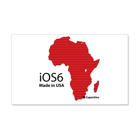 iOS6 Made in USA 20x12 Wall Decal