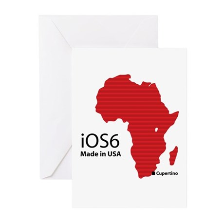 iOS6 Made in USA Greeting Cards (Pk of 20)