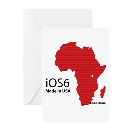 iOS6 Made in USA Greeting Cards (Pk of 10)