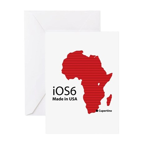 iOS6 Made in USA Greeting Card