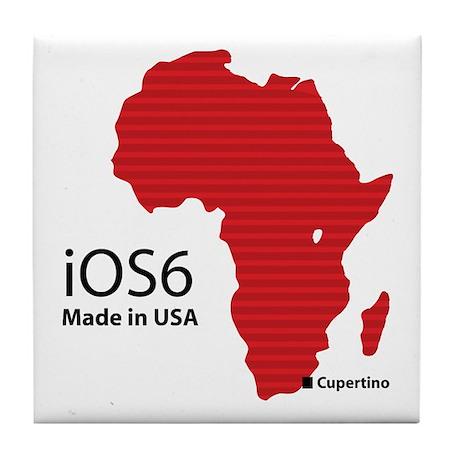 iOS6 Made in USA Tile Coaster