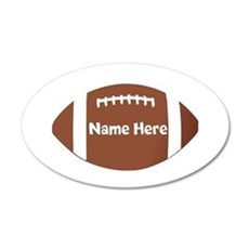 Personalized Football Wall Decal
