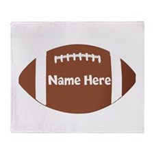 Personalized Football Throw Blanket