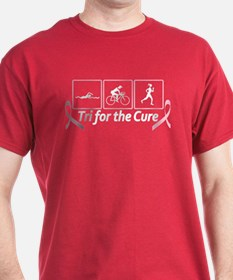 Tri For The Cure (Breast Cancer) T-Shirt