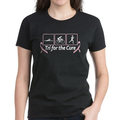 Tri For The Cure (Breast Cancer) Women's Dark T-Sh