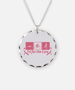 Tri For The Cure (Breast Cancer) Necklace