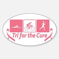 Tri For The Cure (Breast Cancer) Decal