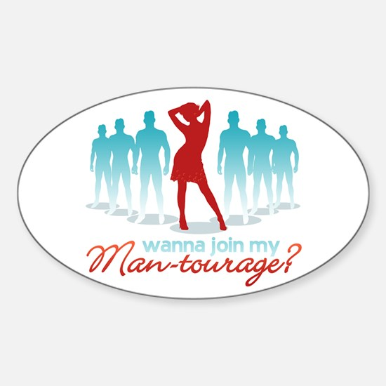 """Man-Tourage"" Oval Decal"