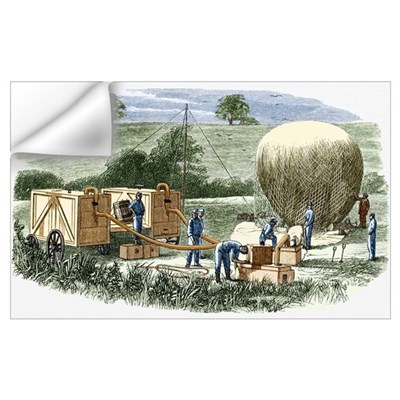 US Civil War observation balloon Wall Decal