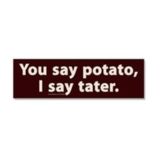 You Say Potato I say tater Car Magnet 10 x 3