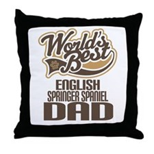 English Springer Spaniel Dad Throw Pillow