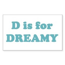 D is for Dreamy Rectangle Decal