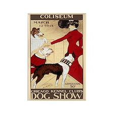 Vintage Dog Show Rectangle Magnet (10 Pack)