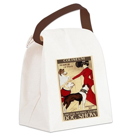 Vintage Dog Show Canvas Lunch Bag