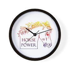Horse Power (rainbow) Wall Clock