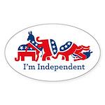 Im Indepdendent Sticker (Oval 10 pk)
