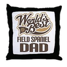 Field Spaniel Dad Throw Pillow