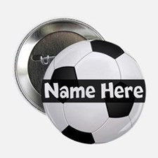 """Personalized Soccer Ball 2.25"""" Button"""