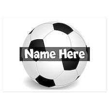 Personalized Soccer Ball 5x7 Flat Invitations