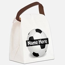 Personalized Soccer Ball Canvas Lunch Bag