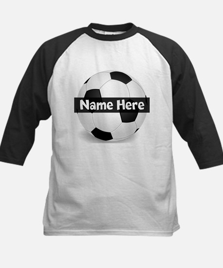 Personalized Soccer Ball Kids Baseball Jersey