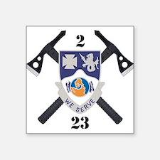 "2-23 Inf Logo Square Sticker 3"" x 3"""
