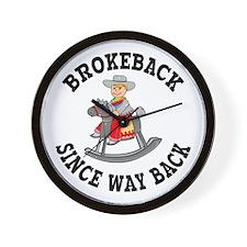 Brokeback Since Way Back Wall Clock