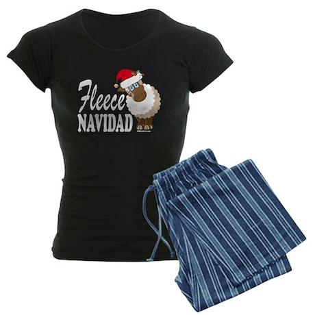 Fleece Navidad (white) Women's Dark Pajamas