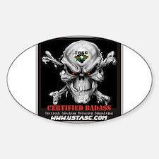 Certified Badass Sticker (Oval)