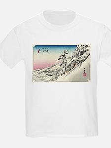 Kameyama - Hiroshige Ando - 1833 T-Shirt