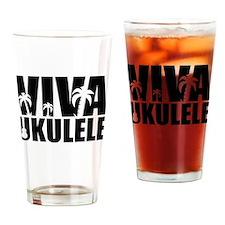 Viva Ukulele Drinking Glass