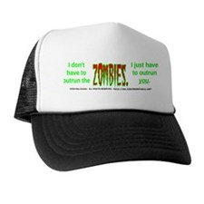 Outrun The Zombies Trucker Hat