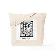 Books - Retro Librarian Readi Tote Bag