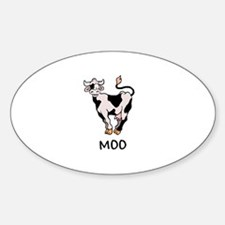 cow moo Oval Decal