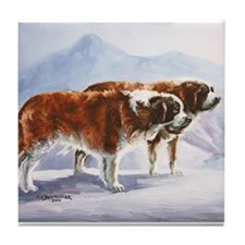 Saint Bernards Tile Coaster