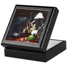 Border Collie Sleeping Keepsake Box