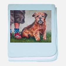 Norfolk Terrier baby blanket